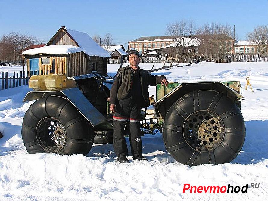 Вездеход на пневматиках с двигателем Урал