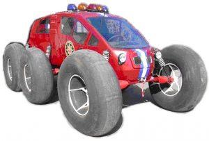 Средство спасения на шинах низкого давления