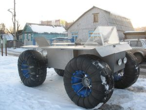 снегоход на шинах низкого давления