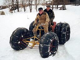 Самодельный квадроцикл-пневматик